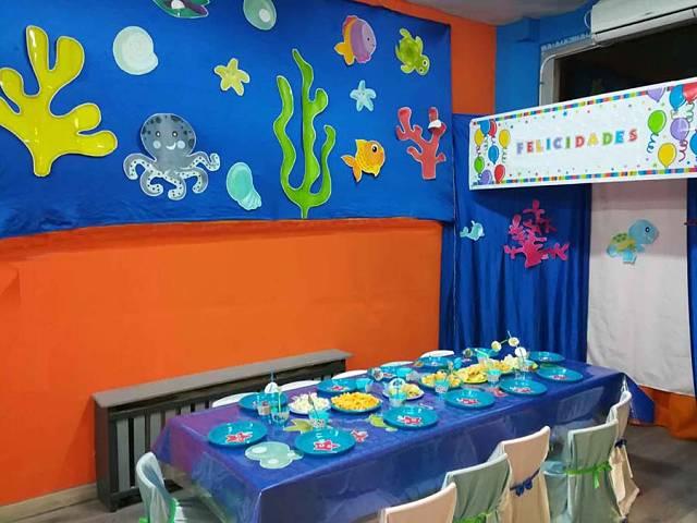 Centro infantil Pasito a Pasito - Cumpleaños animales marinos