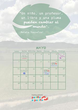 Calendario Mayo 2018 - Eventos Pasito a Pasito - León
