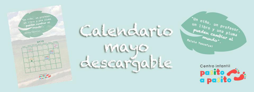 Descarga nuestro calendario de mayo